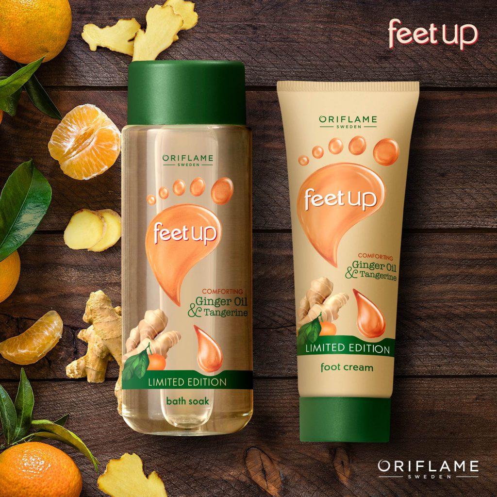 feet up ginger oil & tangerine