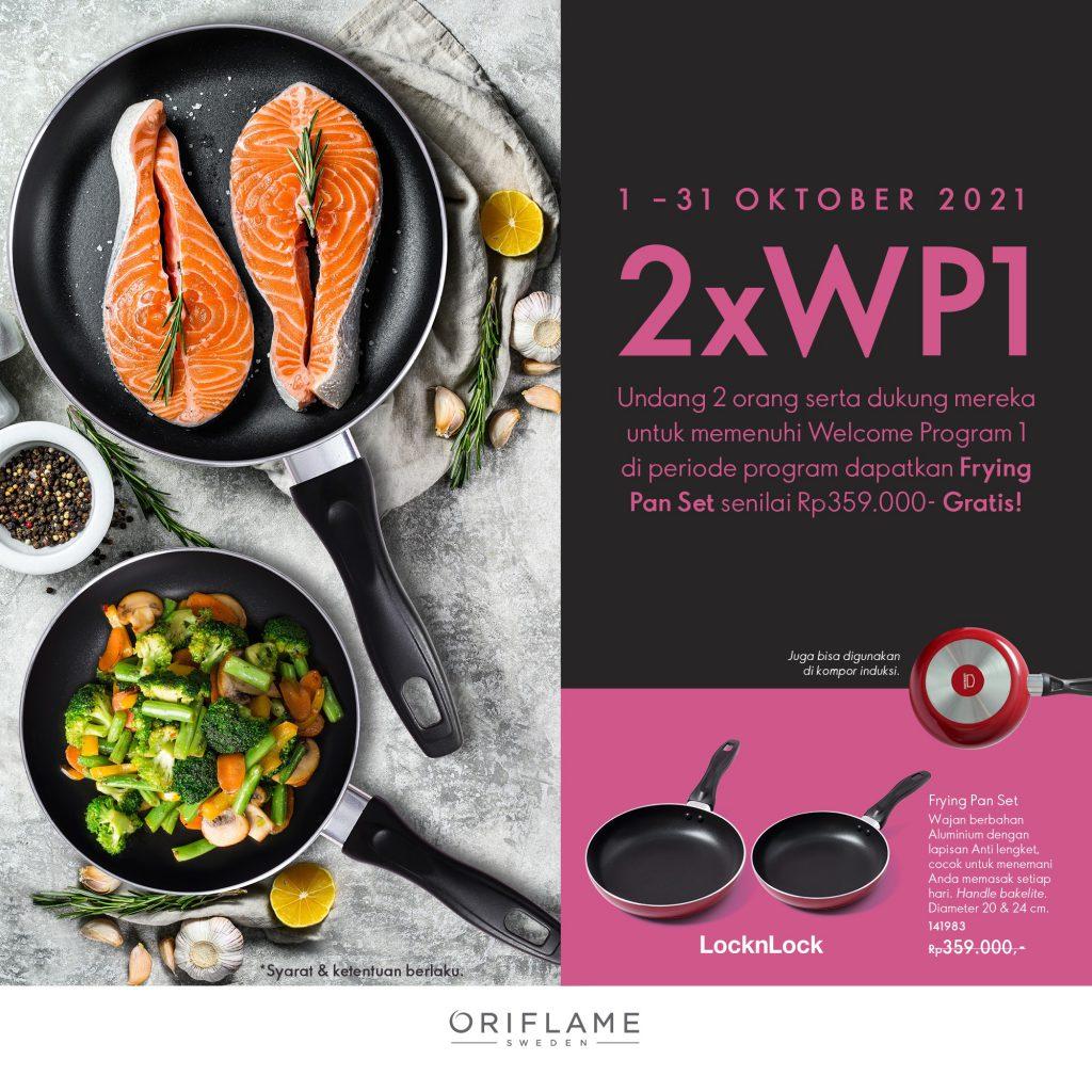Hadiah Sponsor Oriflame Frying Pan Set   Oktober 2021